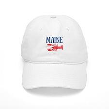Maine Watercolor Lobster Baseball Cap