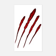 Claw Mark Victim Sticker (Rectangle)