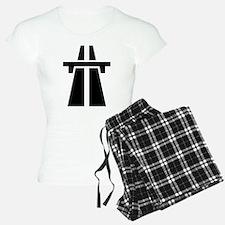 Motorway/Autobahn Symbol Pajamas
