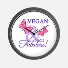 Vegan and Fabulous Wall Clock