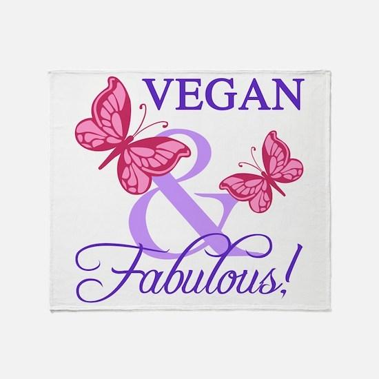 Vegan and Fabulous Throw Blanket