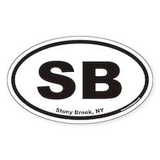 Stony Brook SB Euro Oval Decal