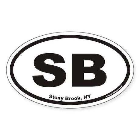 Stony Brook SB Euro Oval Sticker