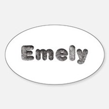 Emely Wolf Oval Decal