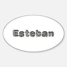 Esteban Wolf Oval Decal