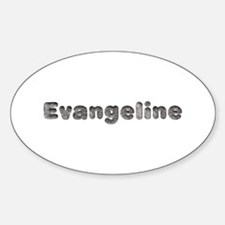 Evangeline Wolf Oval Decal