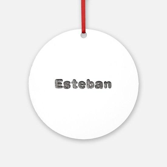 Esteban Wolf Round Ornament