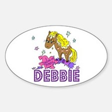 I Dream Of Ponies Debbie Oval Decal