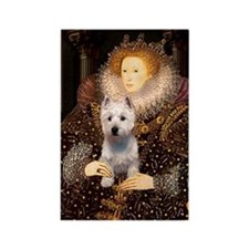 Queen Liz & Her Westie Rectangle Magnet