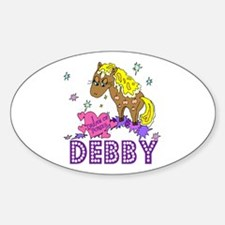 I Dream Of Ponies Debby Oval Decal