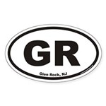 Glen Rock GR Euro Oval Sticker