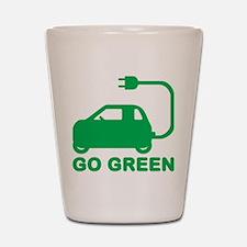Go Green ~ Drive Electric Cars Shot Glass