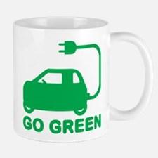 Go Green ~ Drive Electric Cars Mugs