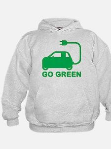 Go Green ~ Drive Electric Cars Hoody
