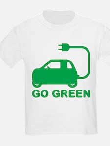 Go Green ~ Drive Electric Cars T-Shirt
