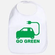 Go Green ~ Drive Electric Cars Bib