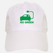 Go Green ~ Drive Electric Cars Baseball Baseball Cap
