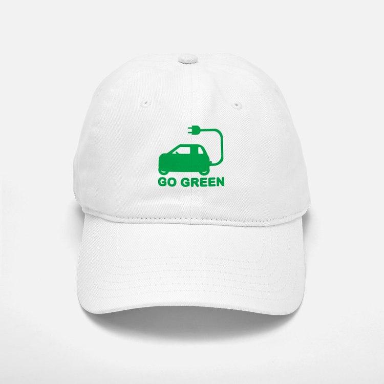 Go Green ~ Drive Electric Cars Baseball Baseball Cap