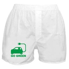 Go Green ~ Drive Electric Cars Boxer Shorts