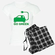 Go Green ~ Drive Electric Cars pajamas