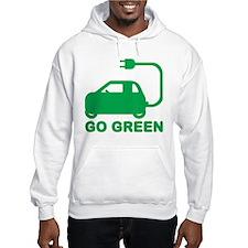 Go Green ~ Drive Electric Cars Jumper Hoody