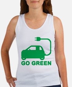 Go Green ~ Drive Electric Cars Tank Top