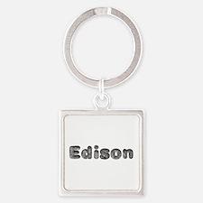 Edison Wolf Square Keychain