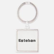 Esteban Wolf Square Keychain