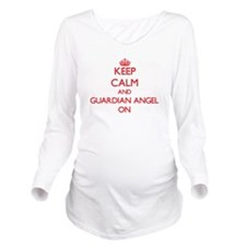 Keep Calm and Guardi Long Sleeve Maternity T-Shirt