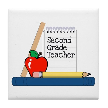 Second Grade Teacher (Notebook) Tile Coaster