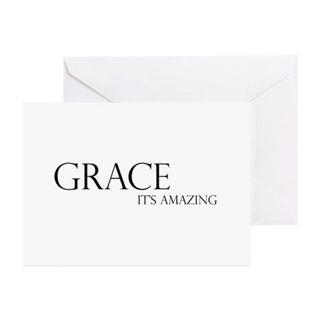 Black Grace It's Amazing Greeting Cards (Pk of 20)