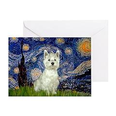 Starry Night & West Hightland Greeting Card