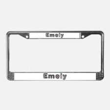 Emely Wolf License Plate Frame