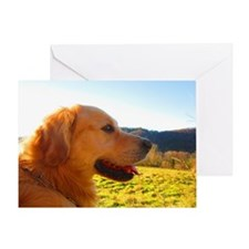 awesome golden retriever Greeting Card