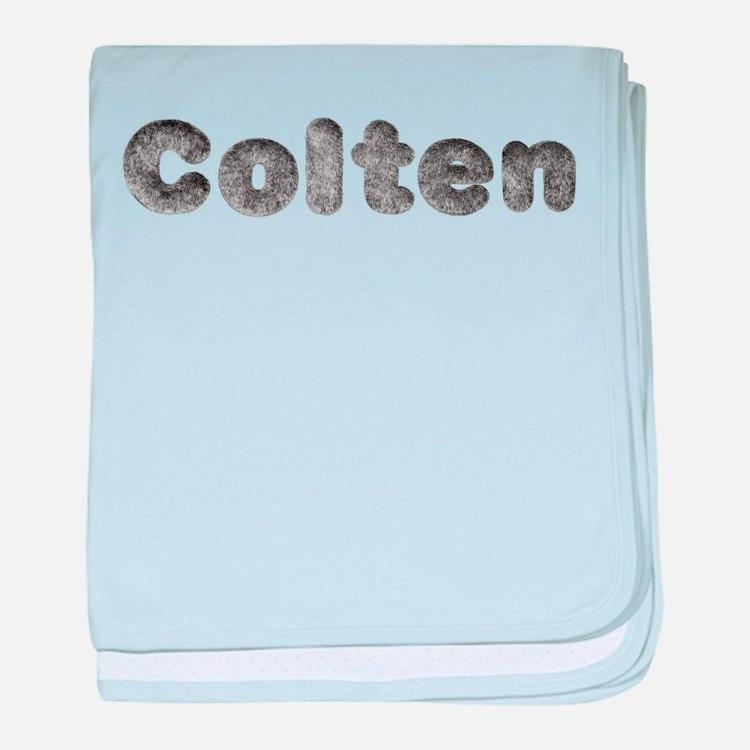 Colten Wolf baby blanket
