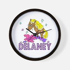 I Dream Of Ponies Delaney Wall Clock