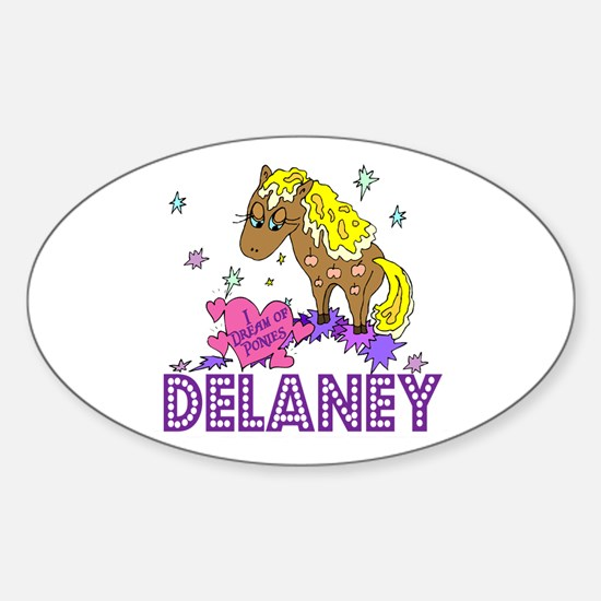 I Dream Of Ponies Delaney Oval Decal