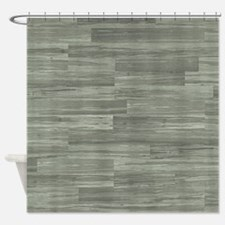 Green Bamboo Planks Shower Curtain