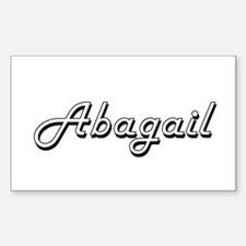 Abagail Classic Retro Name Design Decal