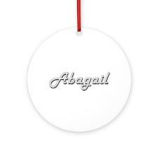 Abagail Classic Retro Name Design Ornament (Round)