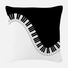 Piano Keyboard Woven Throw Pillow
