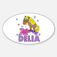 I Dream Of Ponies Delia Oval Decal