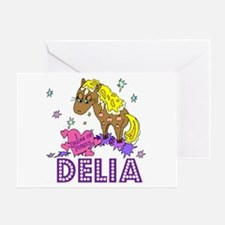 I Dream Of Ponies Delia Greeting Card