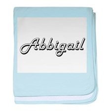 Abbigail Classic Retro Name Design baby blanket