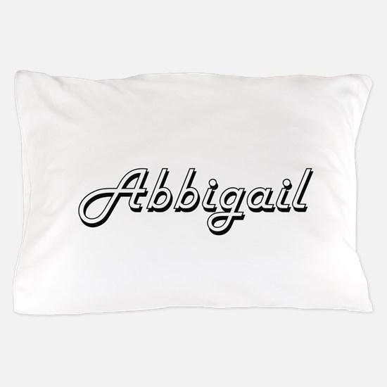 Abbigail Classic Retro Name Design Pillow Case