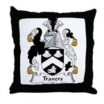 Travers Family Crest Throw Pillow
