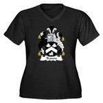 Travers Family Crest Women's Plus Size V-Neck Dark