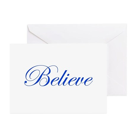 Blue Believe Greeting Cards (Pk of 20)