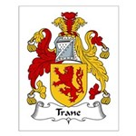 Trane Family Crest Small Poster