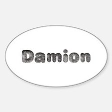Damion Wolf Oval Decal